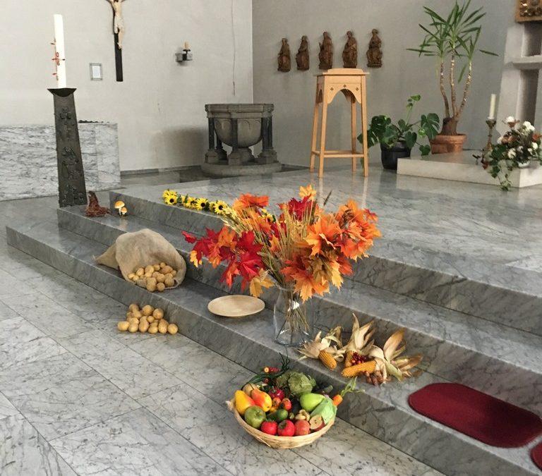 Erntedankfeier 2016 in der St. Lambertus Kirche in Witterschlick
